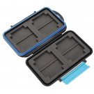 JJC MC-2 Anti-shock Waterproof Memory Card Case Hard Storage 4 CF 8 SD