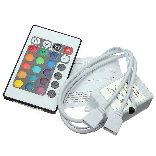24 Key IR Remote Controller For DC 12V RGB LED Light Strip