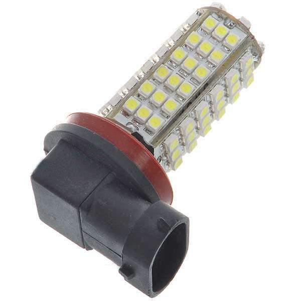 1PCS New H11 5W 102-SMD LED 6500K 450-Lumen White Fog Lights for Car