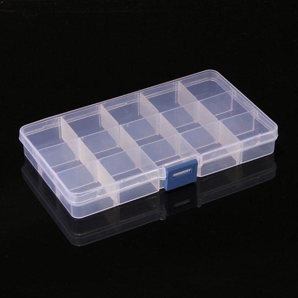 15 Compartment Plastic Storage Box