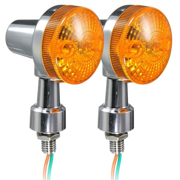 2pcs Universal Motorcycle Turn Signal Light Indicatior Lamp Amber Bulb