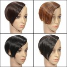 Women Front Fringe Neat Clip In Side Swept Bang Hairpiece
