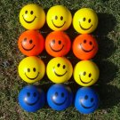 12PCS Hand Stress Relief Squeeze Foam Ball  Smile Face Balls Toys