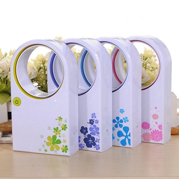 Mini Bladeless Fan Refrigeration No Leaf Air Conditioner USB Desktop