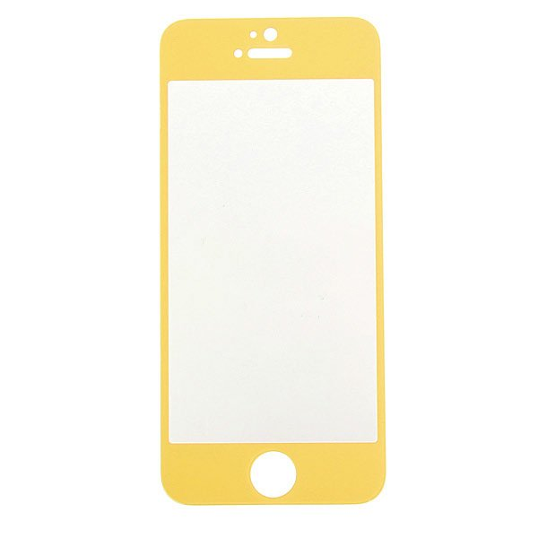 Colorful Tempered Glass Film Screen Protectors For iPhone 5 5S 5C
