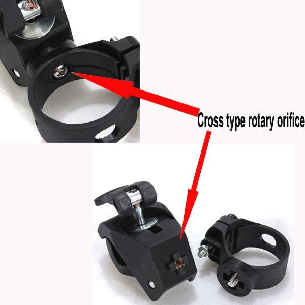 Universal Flashlight Front Light Mount Clip Holder Stand Bracket
