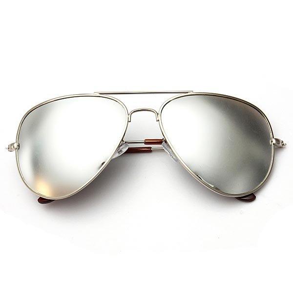 UV400 Polarized Goggle Metal Aviator Sunglasses Eyewear Mirror