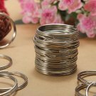 100Pcs 25mm Metal Split Rings Nickel Steel Hoop Keyrings