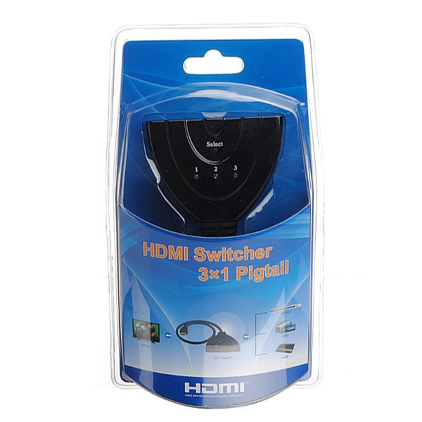 3Port 1.3B HDMI Splitter Switch Switcher For HDTV 1080P