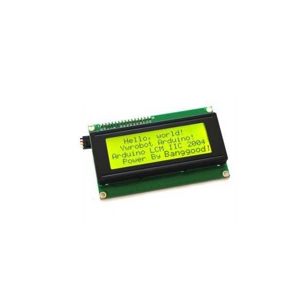 IIC / I2C 2004 204 20 x 4 Character LCD Display Module Yellow Green