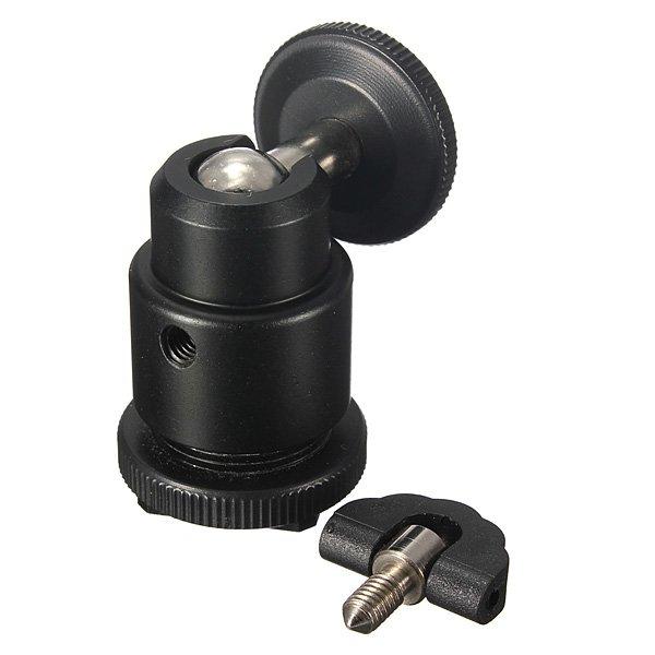 1/4 Inch Hot Shoe Ball Head Flash Bracket Holder Mount For Camera Tripod LED Light