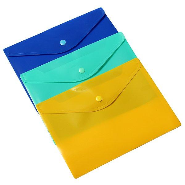 12Pcs A5 Document Paper Button Filing Folder File Storage Bag