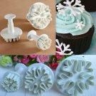 3Pcs Snowflake Biscuit Cake Decorating Mold