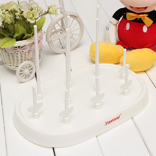 Baby Newborn Milk Bottle Drying Rack for 9 Bottles