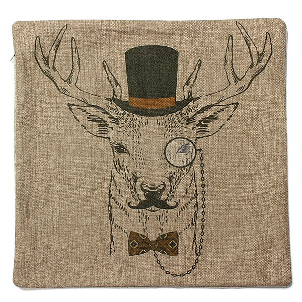 Classic Retro Deer Series Pillow Case Sofa Decor Cushion Cover