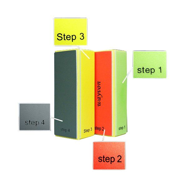 10pcs Nail Art 4 Step Buffer Sanding File Blocks Buffers