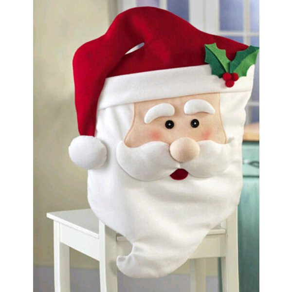 Mr And Mrs Santa Claus Christmas Chair Cover Garden Home Decoration