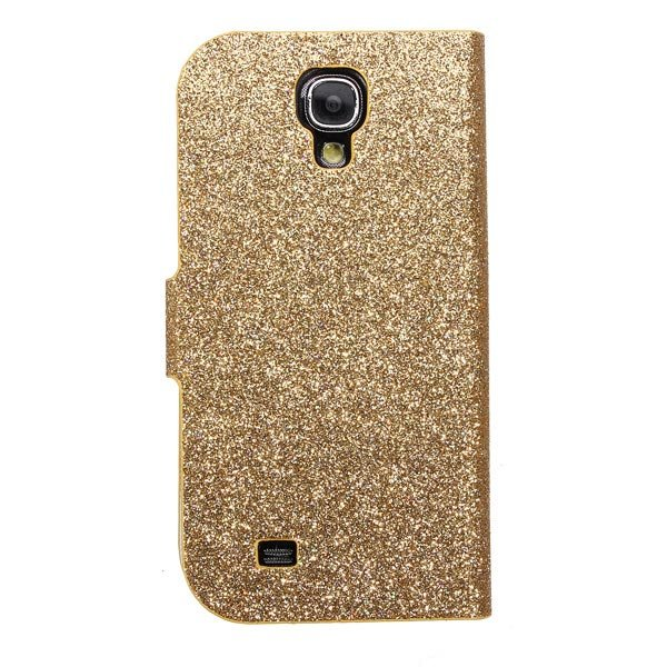 Bling Flip Magnetic Lock Stand Wallet Case For Samsung Galaxy S4 I9500
