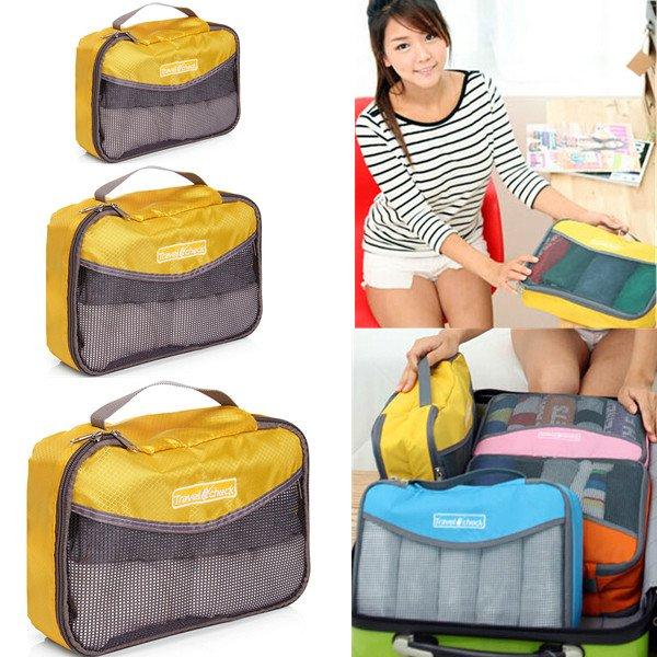 Portable Nylon Net Travel Luggage Underwear Organizer Handbag Storage