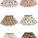 Floral Pattern Ruffle Skirt