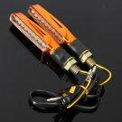 9 LEDs Universal Motorcycle Turn Signal Indicators Light Lamp