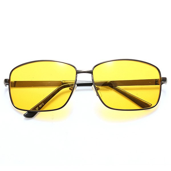 Night Vision Driving Sunglasses Yellow Lens HD Sunglasses
