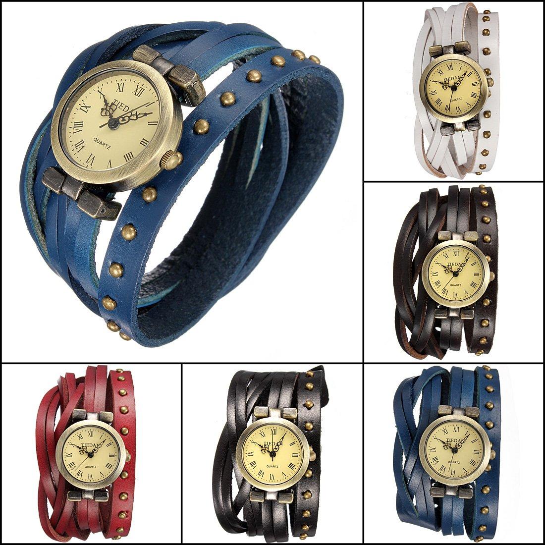Rivet Leather Bracelet Watch