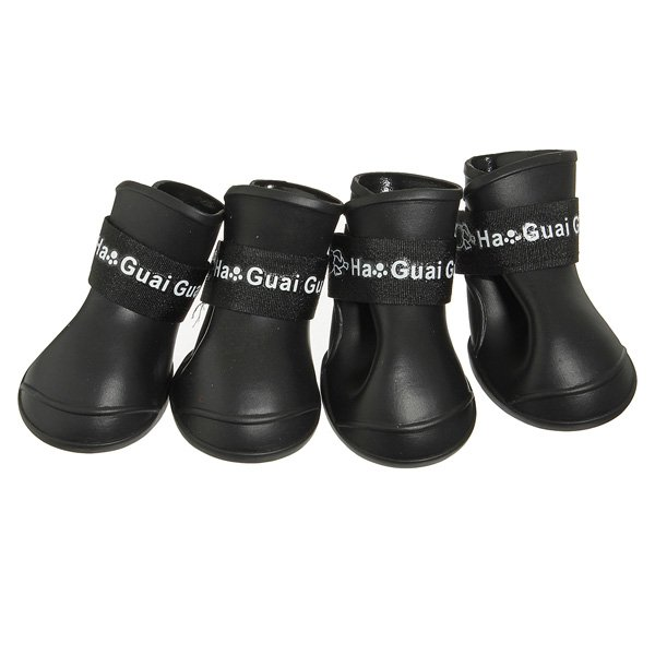 Waterproof Skidproof Pet Dog Rain Protective Rubber Shoes Booties