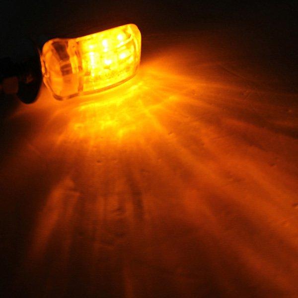 Amber 6 LED Mini Motorcycle Turn Lights Blinker Indicator