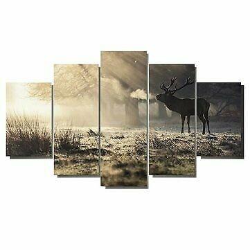 Elk Art Oil Paintings Modern Style Canvas Print Wall Unframed