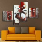 4pcs Flower Vase Prints Paintings Picture Unframed Wall Hanging Decoration