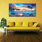 Home Decor Canvas Print Paintings Wall Art Modern Sunset Scenery Beach Tree