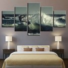 5 PCS Modern Home Room Art Picture Surfing Spray Painting Decor Walls