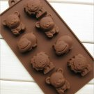 Silicone Cake Mold Hippo Lion Bear Shape Cookie Moulds