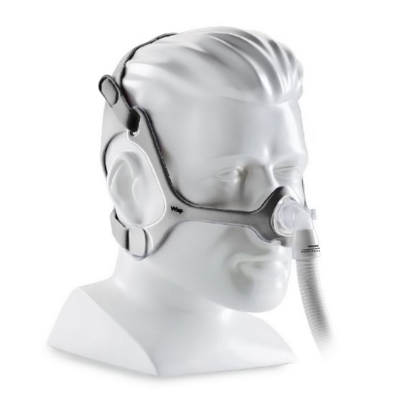 50% off -- NEW Wisp nasal mask with fabric Headgear by Respironics, All size cushions