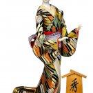 Rare Vintage Japanese doll Kimono Geisha large size with case Hight 20in Japan
