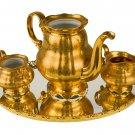 Vintage 22 Kt Gold Hand-Painted Hutschenreuther Selb Tea Set Bavaria