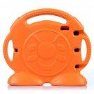 For iPad Air 2 / iPad 6 Orange Anpanman EVA Bumper Portable Protective Case with Handle & Holder