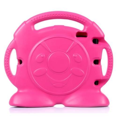 For iPad Air 2 / iPad 6 Magenta Anpanman EVA Bumper Portable Protective Case with Handle & Holder