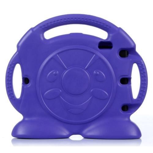 For iPad Air 2 / iPad 6 Purple Anpanman EVA Bumper Portable Protective Case with Handle & Holder
