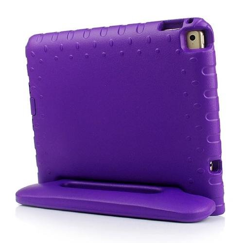 For iPad Air 2 / iPad 6 Purple EVA Bumper Protective Case with Handle & Holder