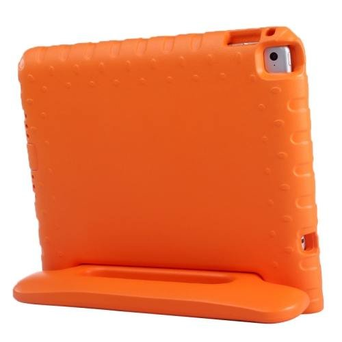 For iPad Air 2 / iPad 6 Orange EVA Bumper Protective Case with Handle & Holder