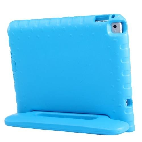 For iPad Air 2 / iPad 6 Blue EVA Bumper Protective Case with Handle & Holder