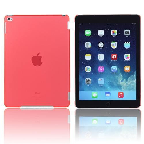 For iPad Air 2 / iPad 6 Red Plastic Hard Protective Case