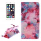 For iPhone 6 Plus Red Sky Double Sided Print Leather Case with Holder, Card Slots & Wallet