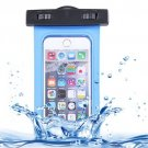 For iPhone 6 Plus Blue Waterproof Carrying Case with Touch Responsive Front & Lanyard