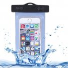 For iPhone 6 Plus Baby Blue Waterproof Carrying Case with Touch Responsive Front & Lanyard