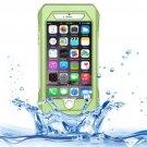 iPhone 6 Plus Green RIYO IP68 Waterproof Shockproof Dustproof Snowproof Case with Holder & Lanyard