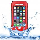 iPhone 6 Plus Red RIYO IP68 Waterproof Shockproof Dustproof Snowproof Case with Holder & Lanyard