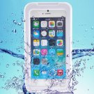 iPhone 6 Plus White IP68 Waterproof Protective Case with Lanyard